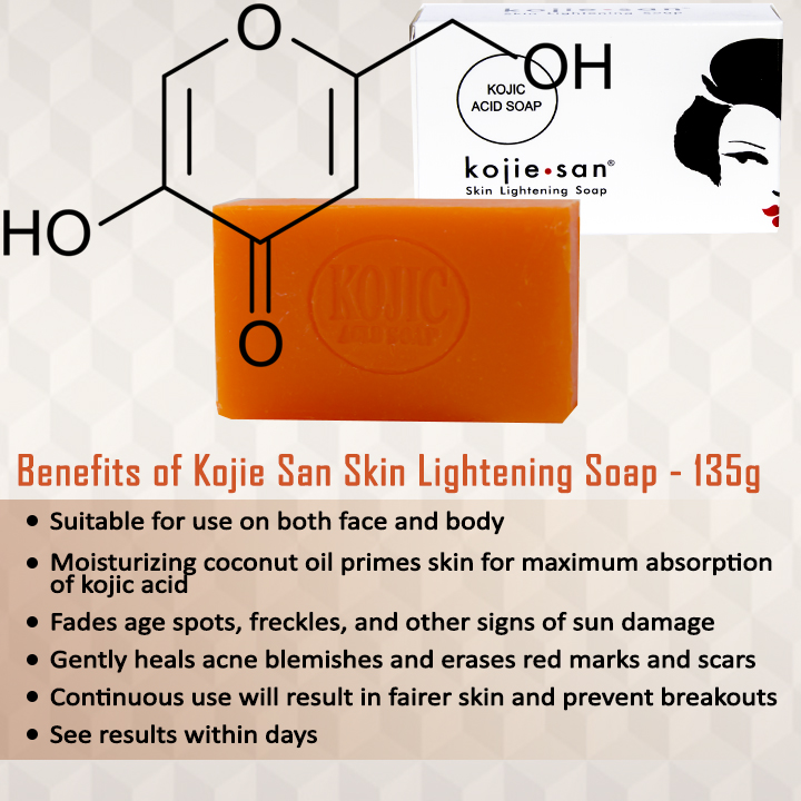 Kojie San Skin Lightening Kojic Acid Soap 135g