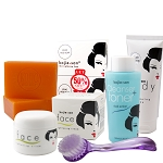 Kojie San Total Skin Lightening Set - Soap, Toner, Lotion, Cream & Brush!